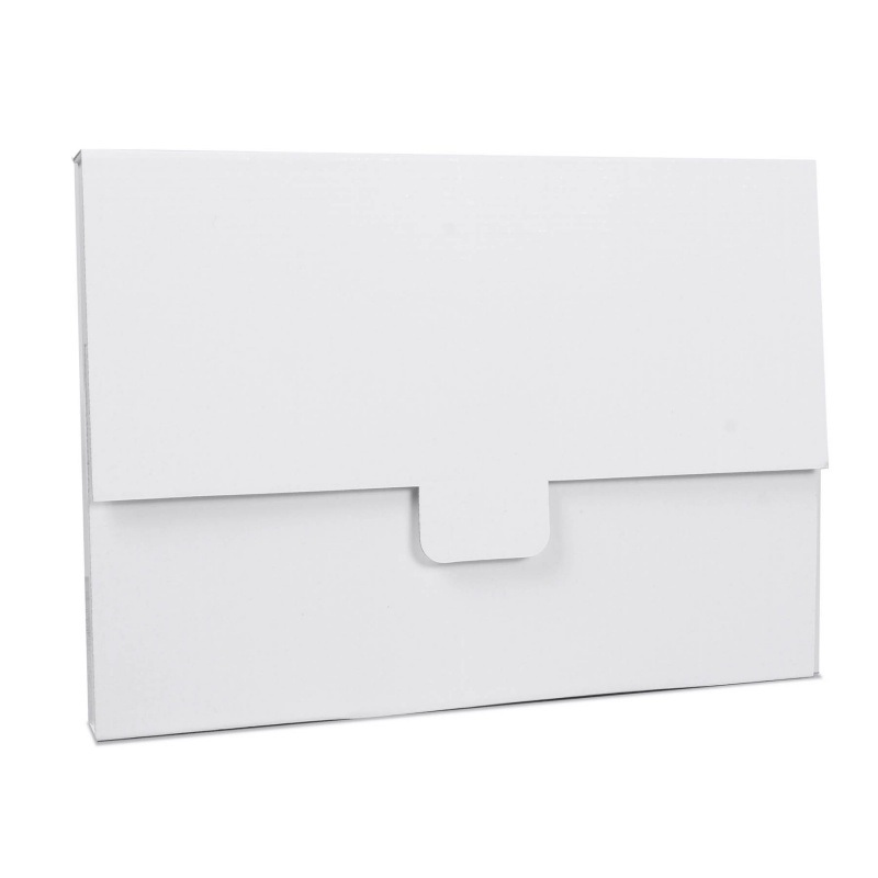 Pochette carton blanche format 31x22x2cm BIKOM Étuis et pochettes