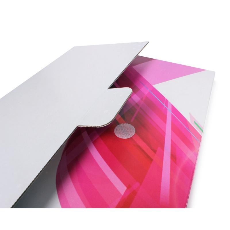 Pochette en carton format 31x22x2cm personnalisée  BIKOM Étuis et pochettes