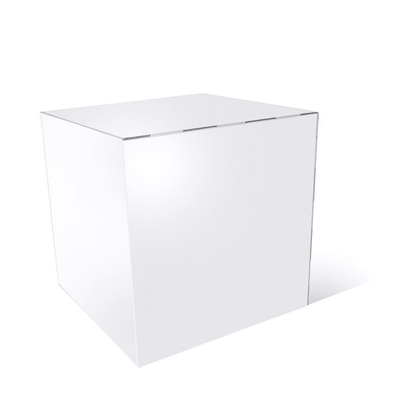cube en carton blanc 50 x 50 x 50 cm. Black Bedroom Furniture Sets. Home Design Ideas