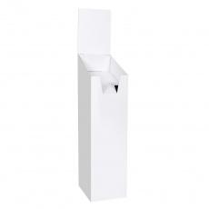 Présentoir porte brochure en carton blanc BIKOM PLV porte catalogues et journaux