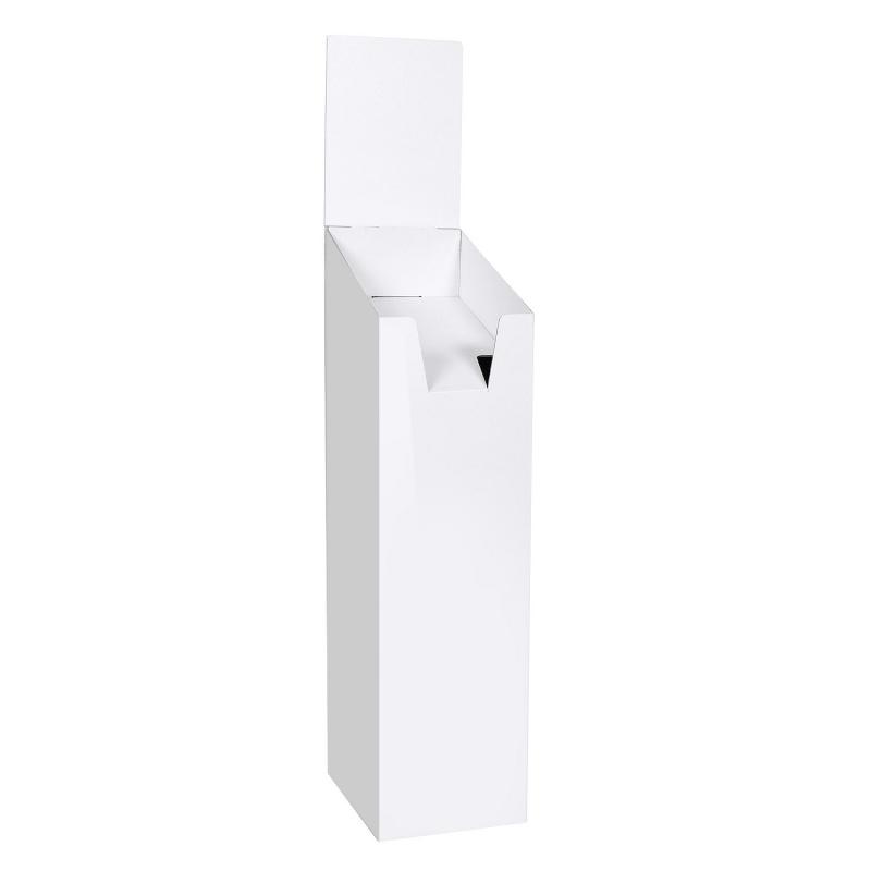 BIKOM Présentoir porte brochure en carton blanc
