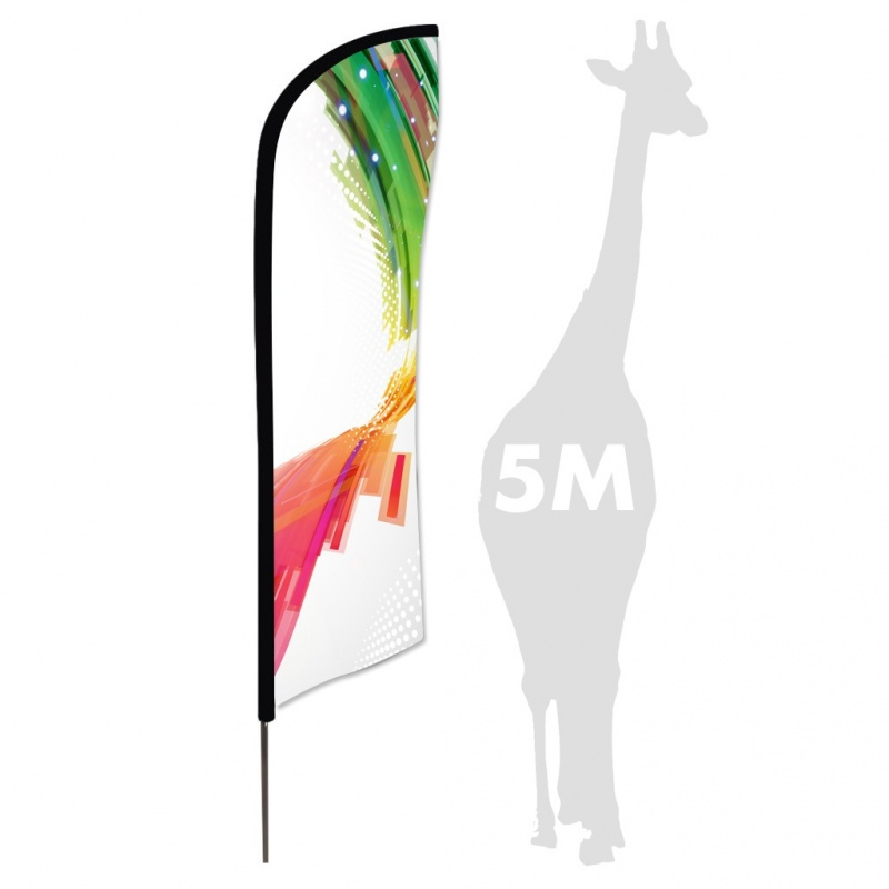 Drapeau Zoom Feather 5 m BIKOM Drapeau, flag, flamme, beachflag