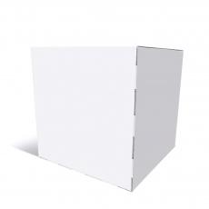 Cube 40 x 40 x 40 cm en blanc