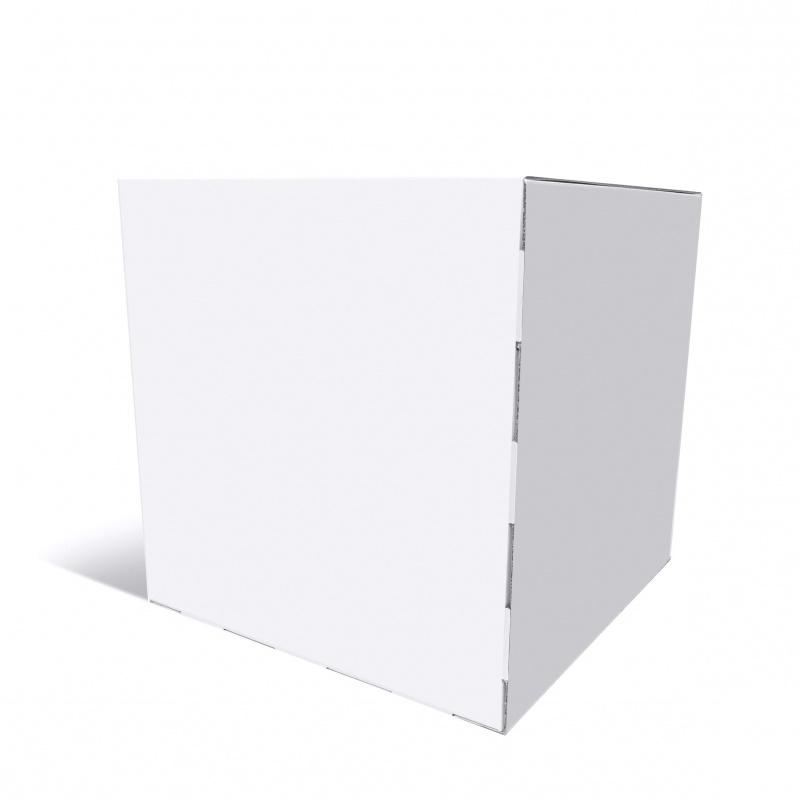 Cube 40 x 40 x 40 cm en blanc BIKOM Cube en carton