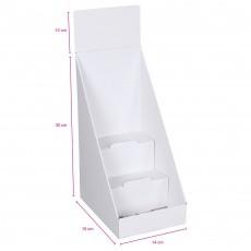 Présentoir en carton sans impression, 3 étages, 400 x 190 x 140 mm