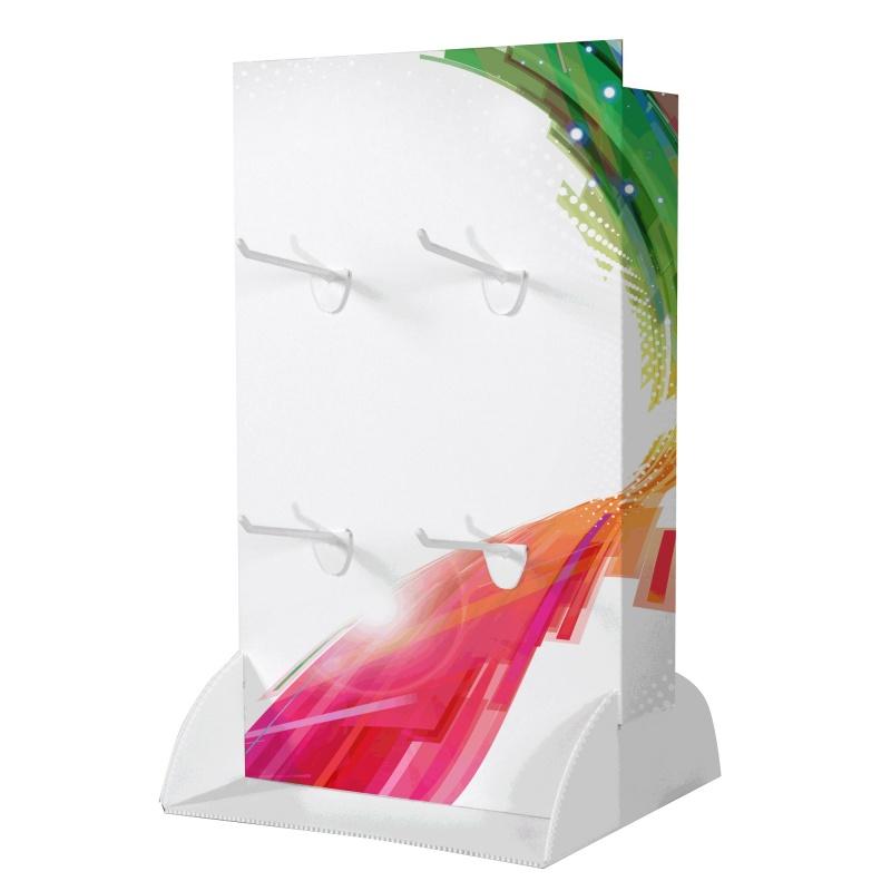 PLV carton de comptoir à broche BIKOM Présentoirs en carton