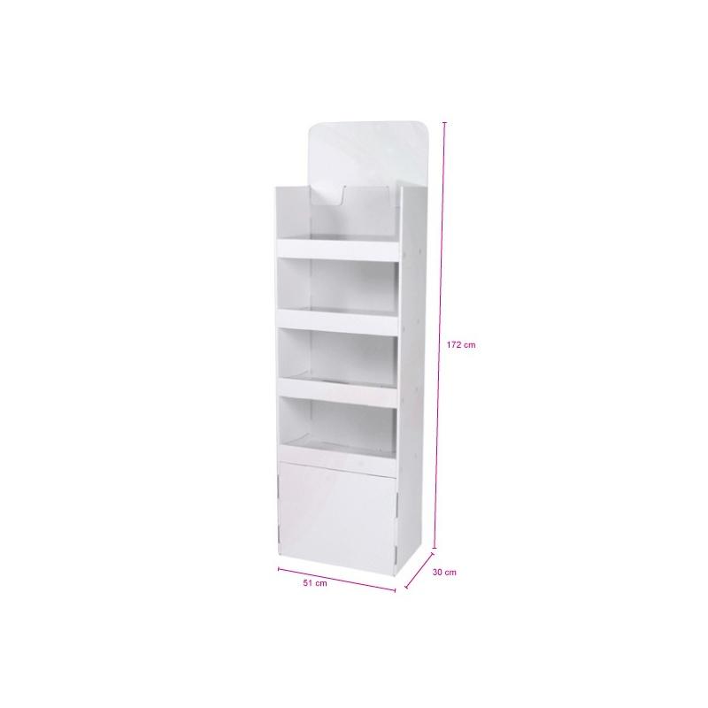 fabricant_plv_Meuble 4 étagères 51x30x172cm blanc
