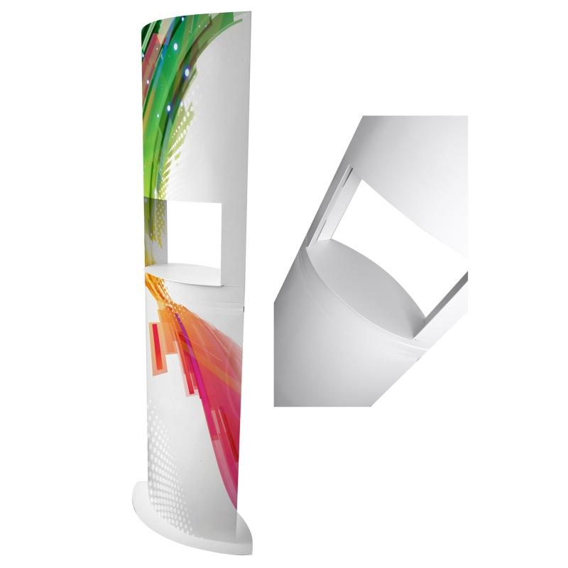 Totem niche avec étagère BIKOM Totem carton elliptique