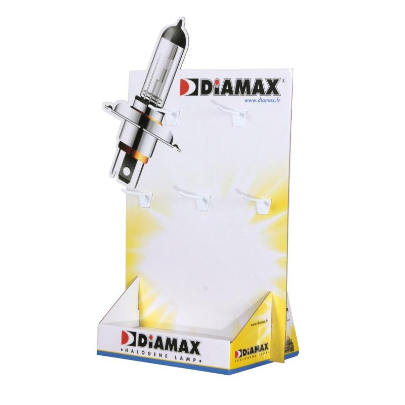 Présentoir à broches personnalisable, 5 broches, 360 x 500 mm BIKOM Présentoirs en carton