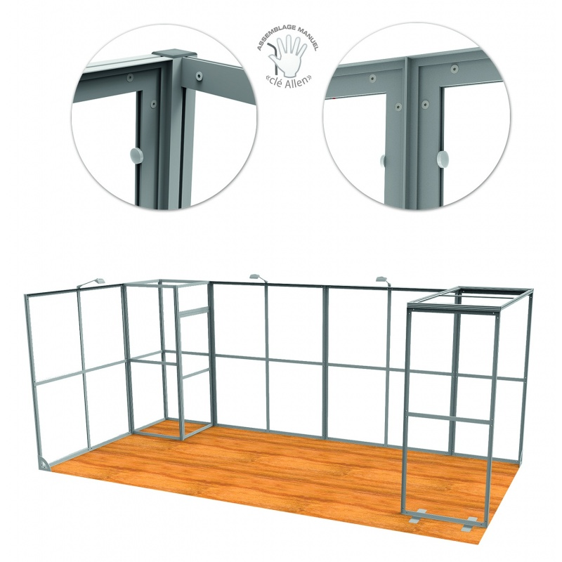 Stand Vector 49m2 modulaire BIKOM Stand modulaire