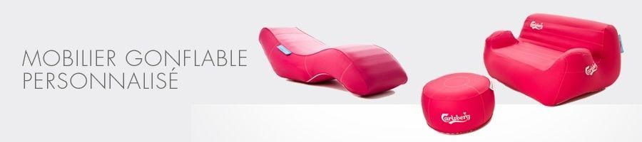 Mobilier gonflable personnalisé