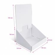 Présentoirs en carton blanc personnalisables