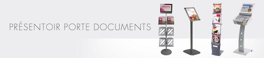 Présentoir à brochures en métal ou plexiglass