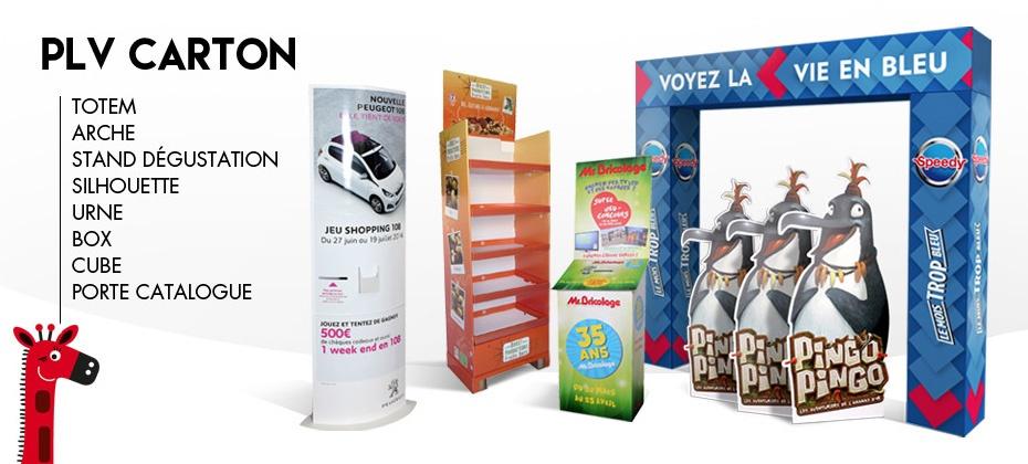 PLV Bikom shop en carton recyclé sur mesure
